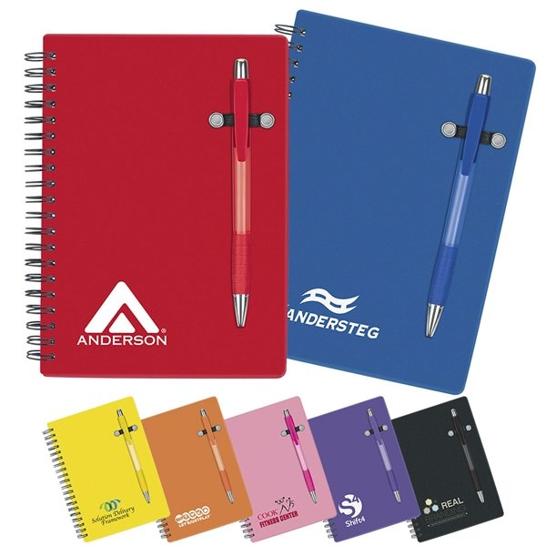 Promotional 5 X 7 70 Lined Pen - Buddy Notebook