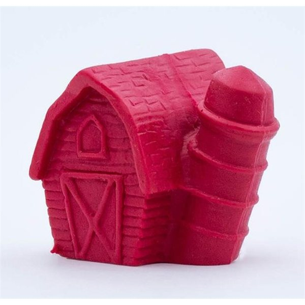 Promotional Pencil Top Stock Eraser - Barn With Silo