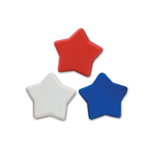 Promotional Pencil Top Stock Eraser - Patriotic Stars