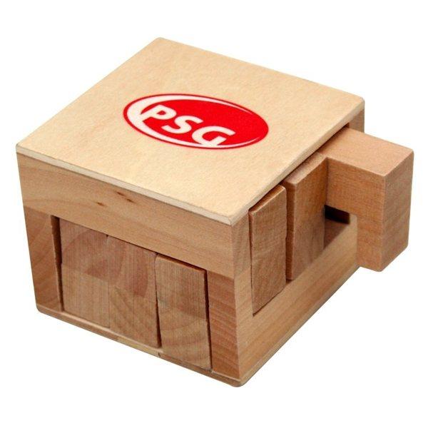 Promotional Wooden Sliding Cube Puzzle