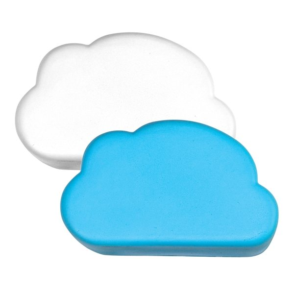 Promotional Cloud Squeezies Stress Reliever - White or Blue