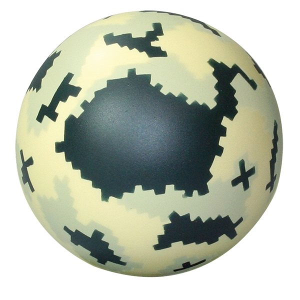 Promotional Digital Camo Ball Squeezies - Stress reliever