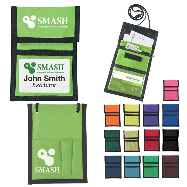 Promotional Custom Neck Wallet Badge Holder With Multi Color Choices