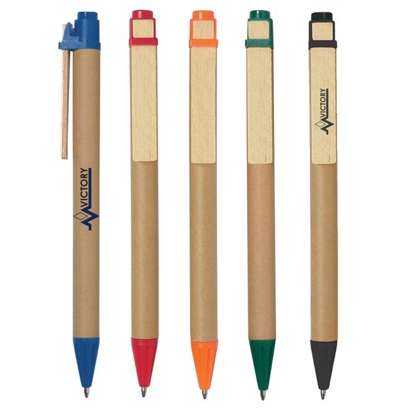 Eco Friendly Inspired Click Ballpoint Pen - Promotional Pens