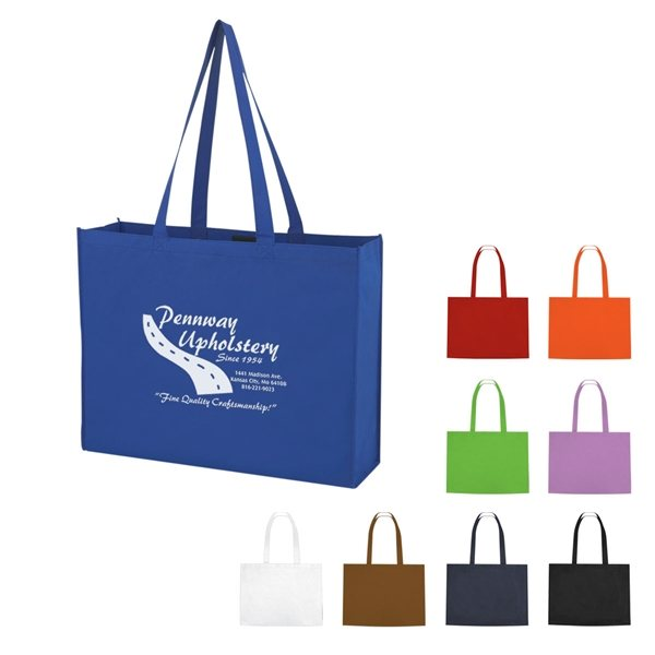 Promotional Non - Woven Shopper Tote With Velcro(R) Closure