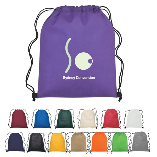 Promotional Custom Non Woven Hit Drawstring Backpack - 13 X 16.5