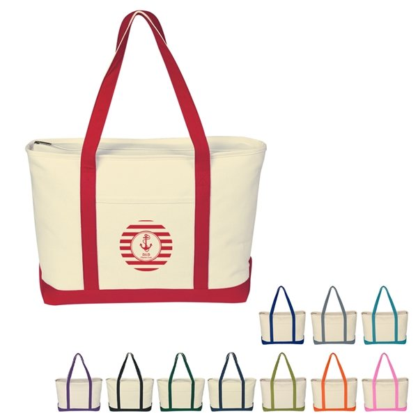 Promotional Large Heavy Cotton Canvas Boat Tote
