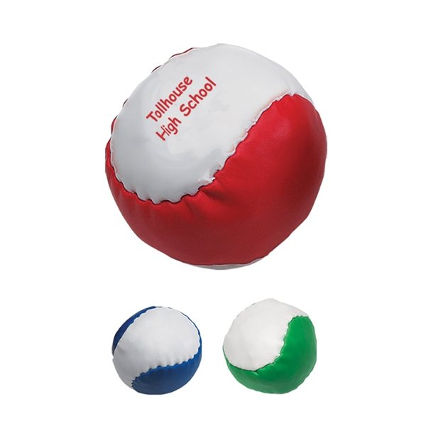 Promotional Leatherette Ball - Stress Relievers