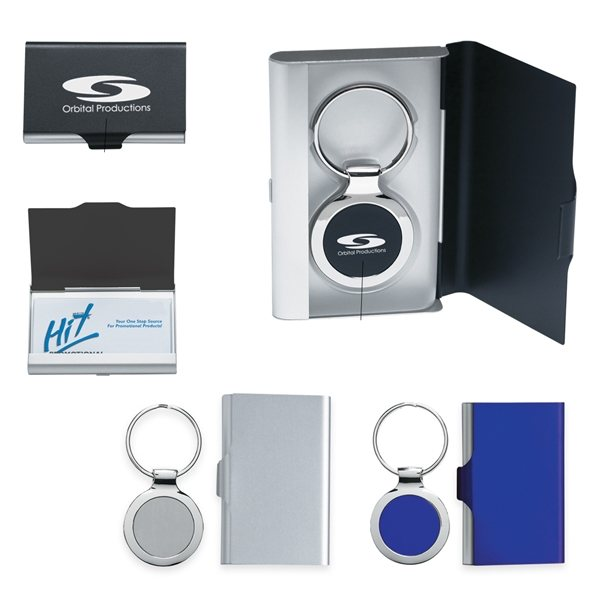 Promotional 2 In 1 Key Tag / Business Card Holder