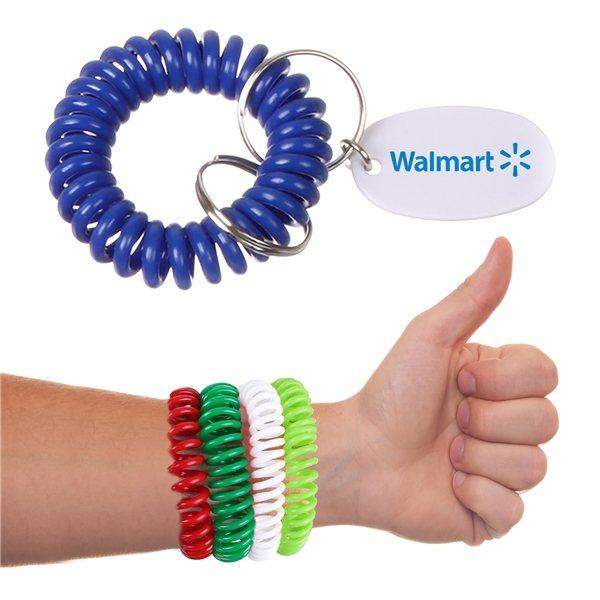 Promotional Bracelet Coil Keychain