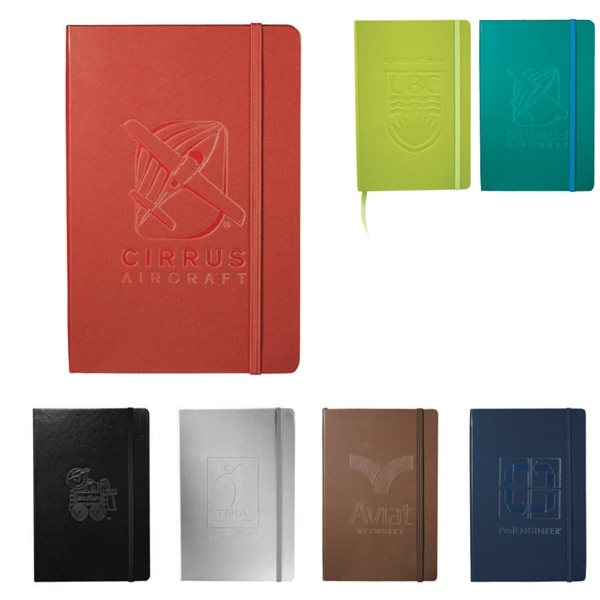 Promotional Ambassador Bound 80 Sheets Lined Journalbook / Notebook With Multiple Color Choices
