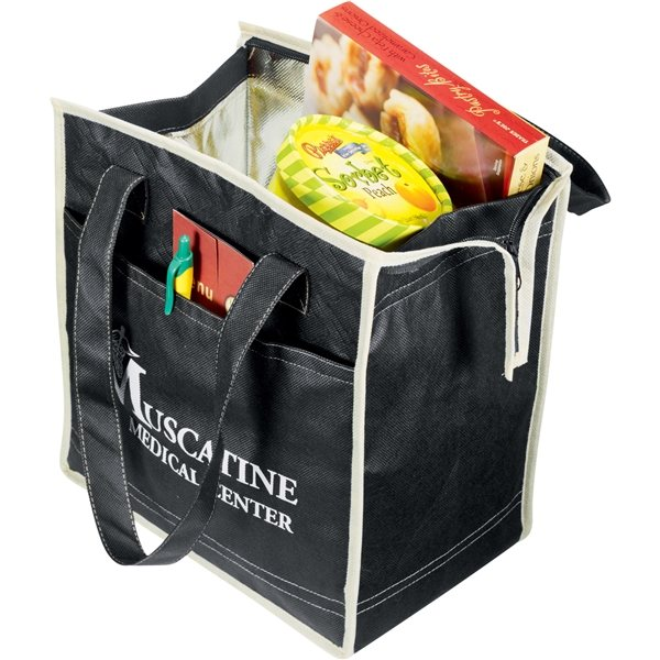 Promotional PolyPro Non - Woven Diamond Insulated Tote