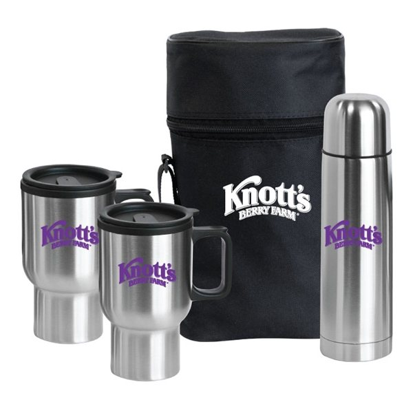 Promotional Pacifica Stainless Steel Travel Drinkware Set