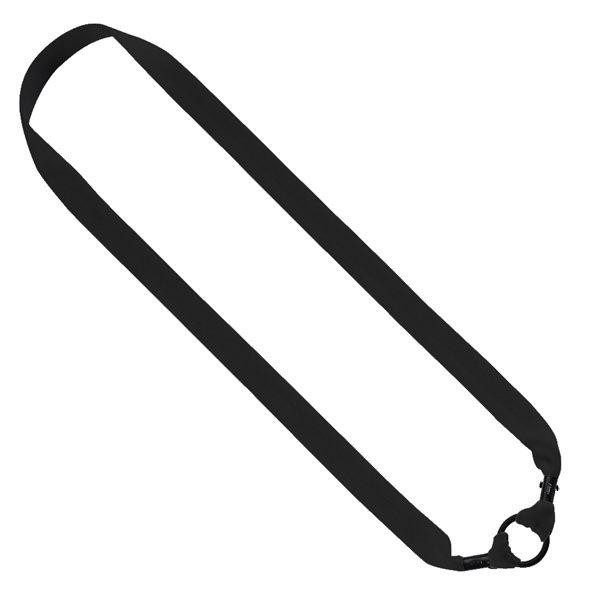 Promotional 1 Knitted Cotton Water Bottle Shoulder Strap with Black Metal Crimp + 1 Rubber O - Ring