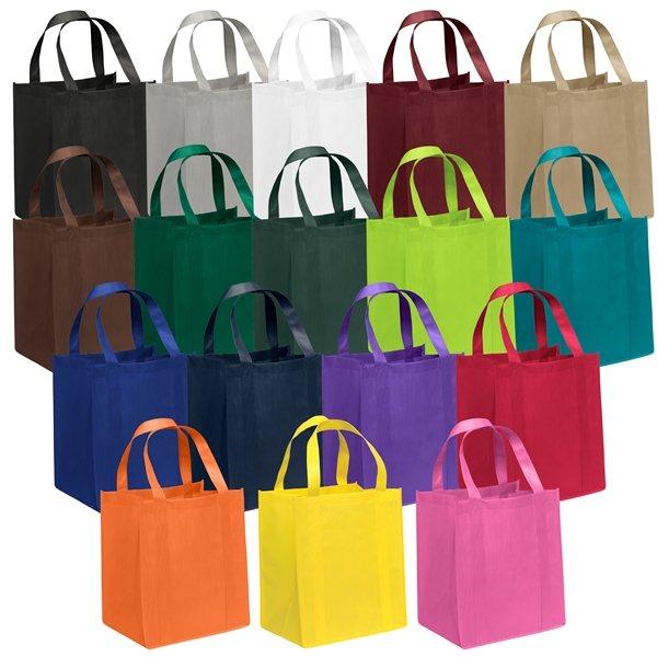 Promotional Non Woven Color Vista Multi Color Big Thunder Tote Bag 13 X 15