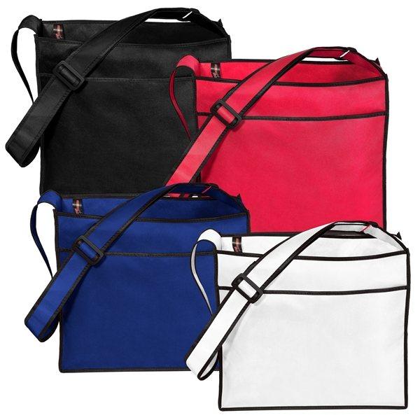 Promotional Non Woven Color Vista Multi Color Elite Tote Bag 14 X 12
