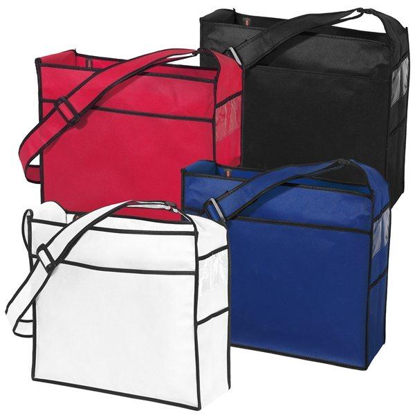 Promotional Non Woven Color Vista Multi Color Ultimate Tote Bag 16 X 14