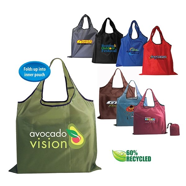 Promotional RPET Fold - Away Carry All, Full Color Digital