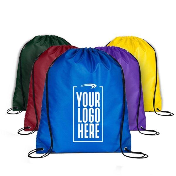 Promotional Custom Nylon Cinch Up Backpack 14.5 X 17.5