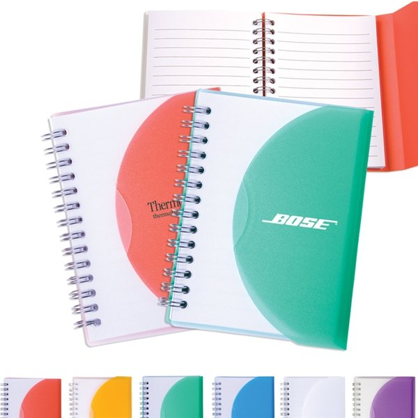 Promotional Medium Spiral Curve Notebook