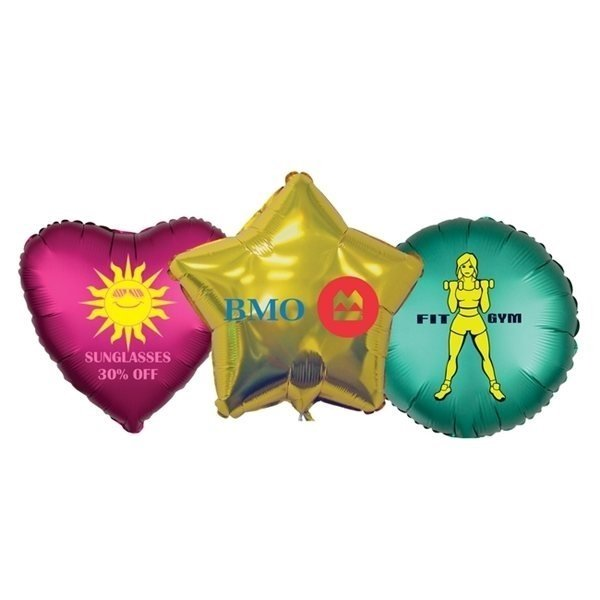 Promotional 18 Round / Heart / Star Foil Balloon