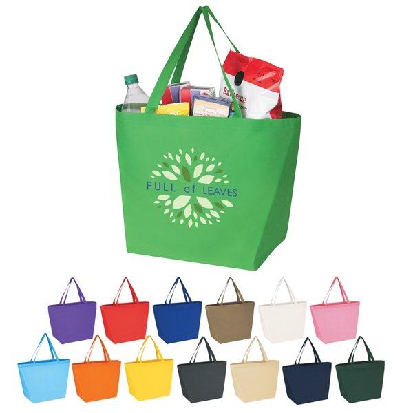Promotional Custom Non Woven Budget Shopper Tote Bag - 20 X 13
