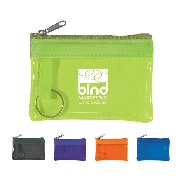 Promotional Translucent Zippered Coin Pouch