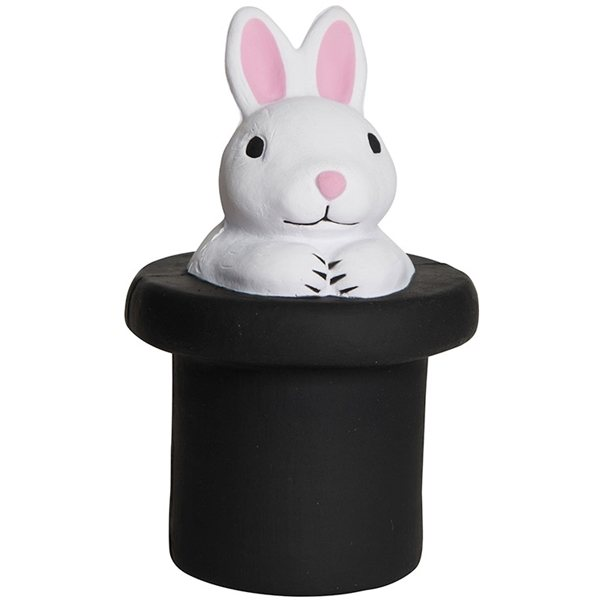 Promotional Magic White Rabbit in Top Hat Squeezie - Stress reliever
