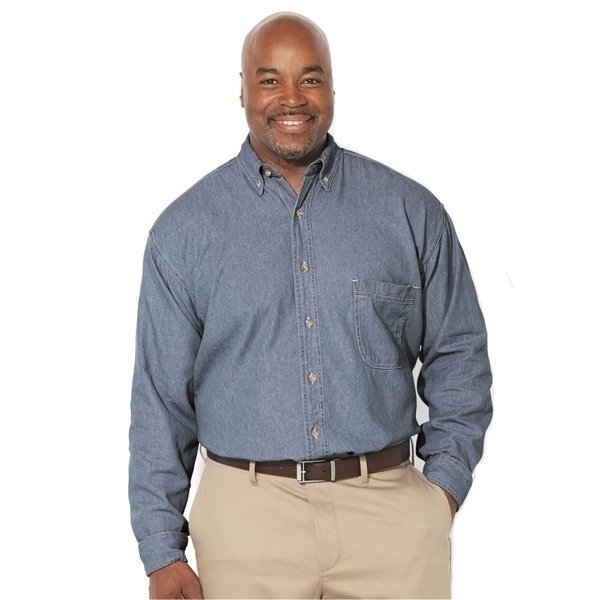 Promotional Sierra Pacific Long Sleeve Denim Shirt Tall Sizes