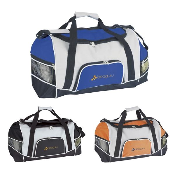 Promotional Nylon Tri - Pocket Sport Duffel Bag 18