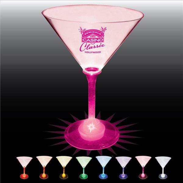 Promotional 10 oz Lighted Standard Stem Martini