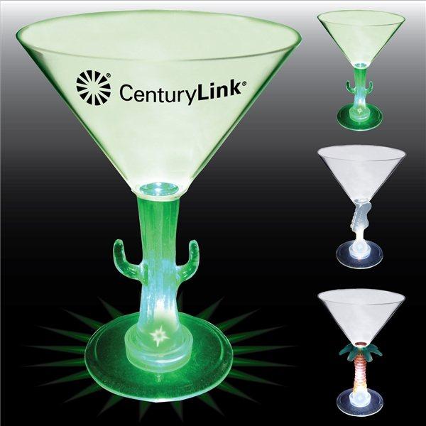 Promotional 10 oz Lighted Novelty Stem Martini
