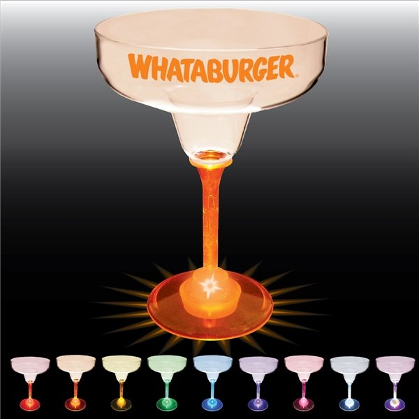 Promotional 12 oz Lighted Standard Stem Margarita