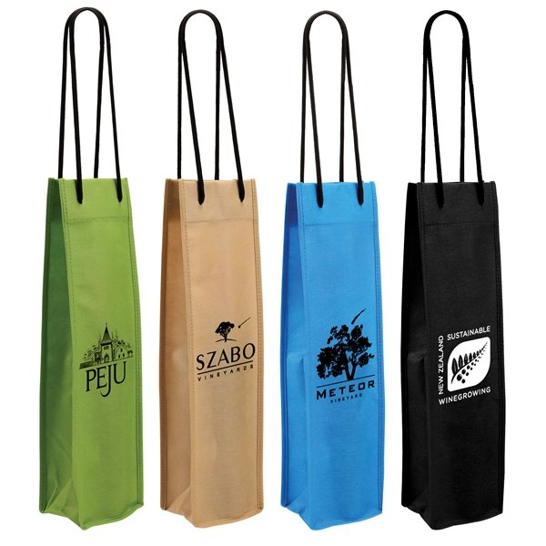 Promotional NW Single Wine Bottle Bag