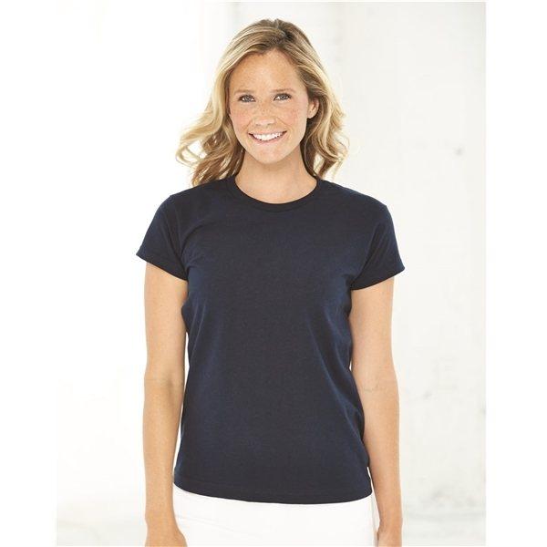 Promotional Bayside - Ladies USA Made Short Sleeve Shirt