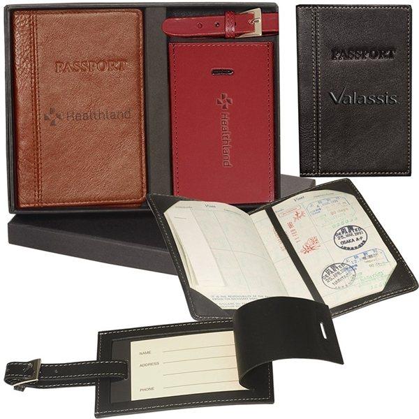 Promotional Peconic Passport Luggage Tag Set