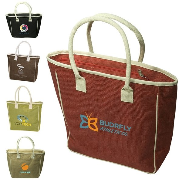 Promotional Seville Jute / canvas Tote
