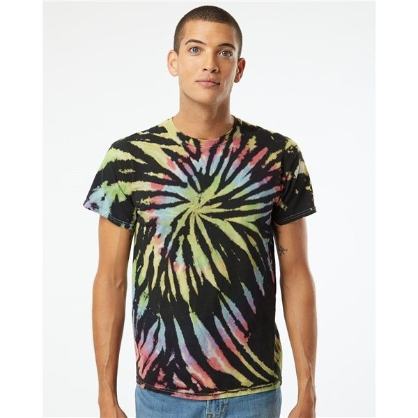 Promotional Tie - Dyed Multi - Color Spiral Short Sleeve T - shirt