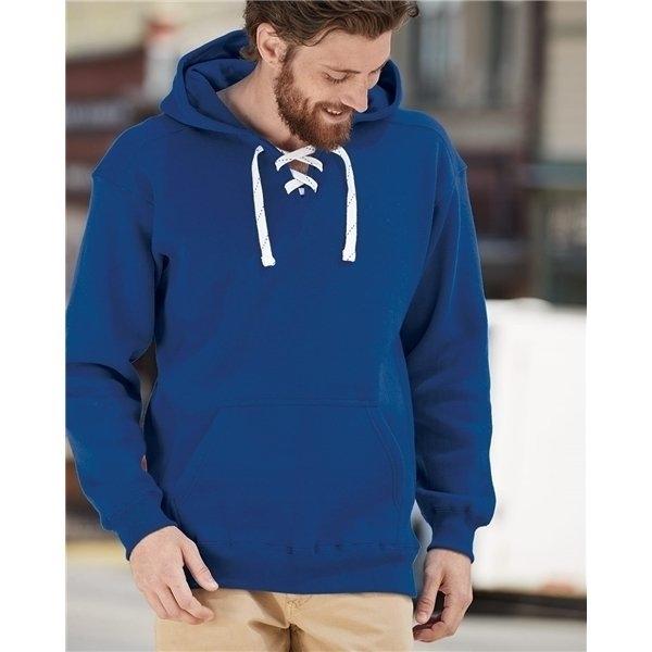 Promotional J. America - Sport Lace Hooded Sweatshirt