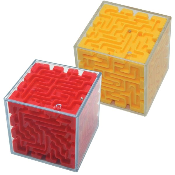 Promotional Cube Maze Puzzle - Red or Yellow