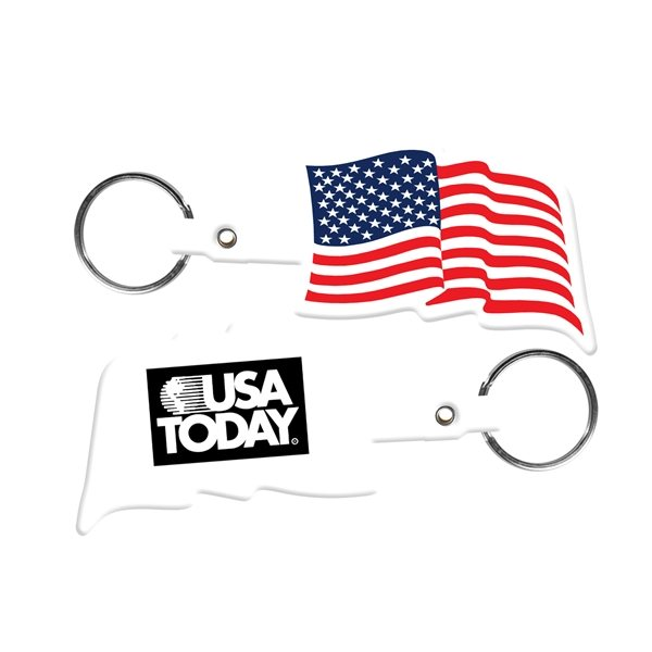 Promotional U.S. Flag Flexible Key - tag