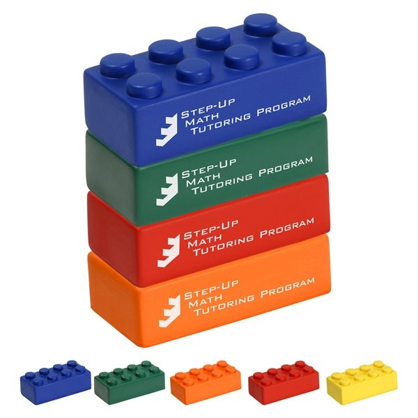 Promotional Building Block 4 Piece Set - Stress Relievers