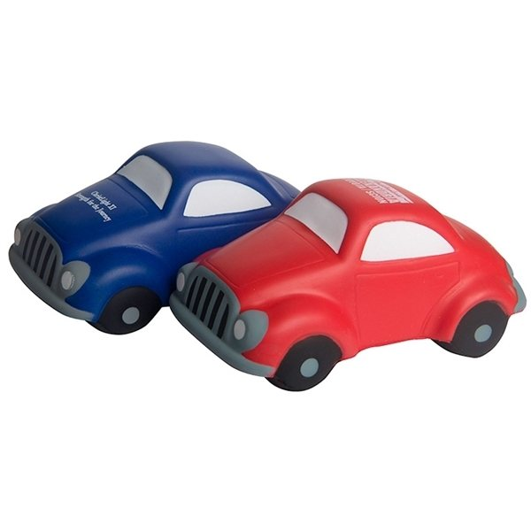Promotional Car Squeezies Stress Reliever - Red or Blue