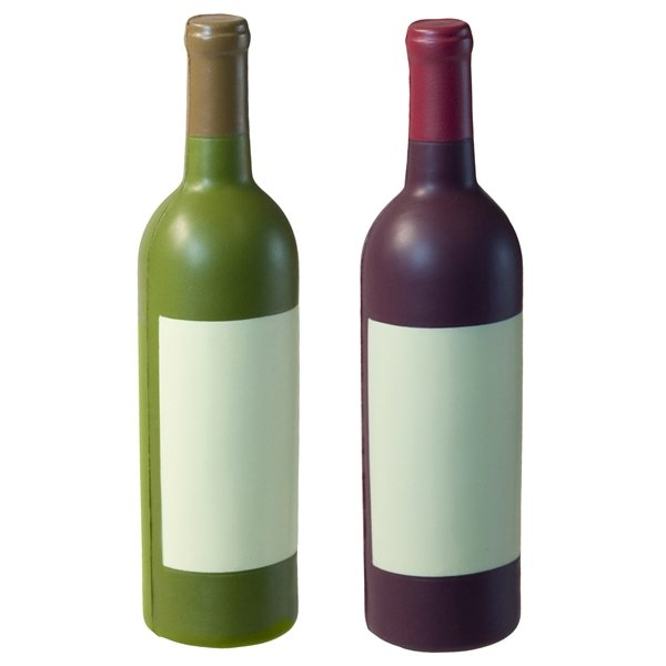 Promotional Wine Bottle Squeezie - Red or White - Stress reliever