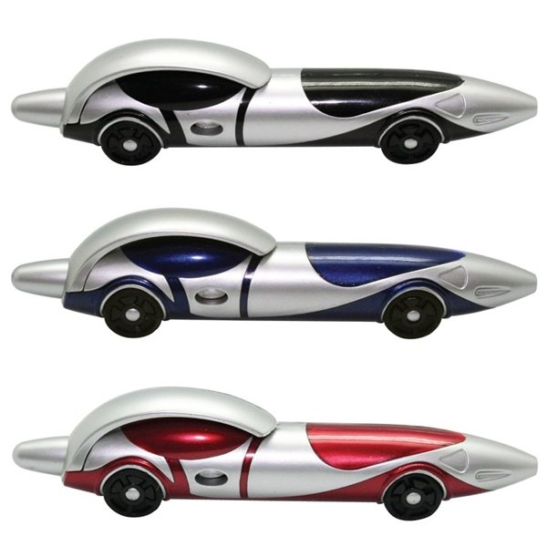 Promotional Race Ballpoint Clicker Car Pen Red, Black or Blue