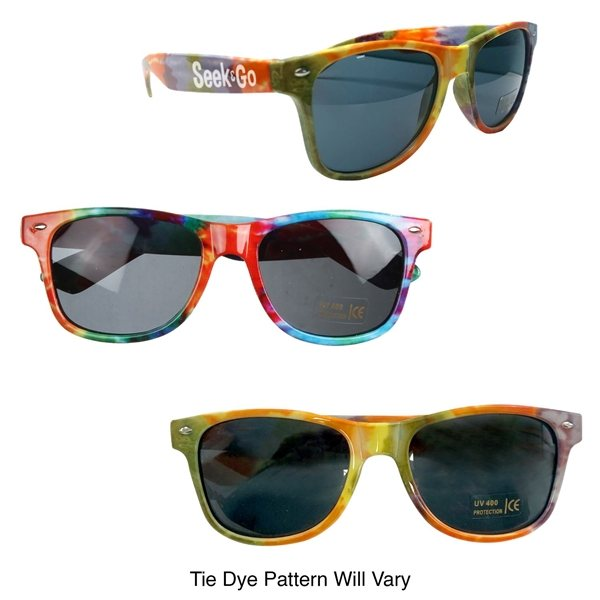 Promotional Tie - Dye Sunglasses