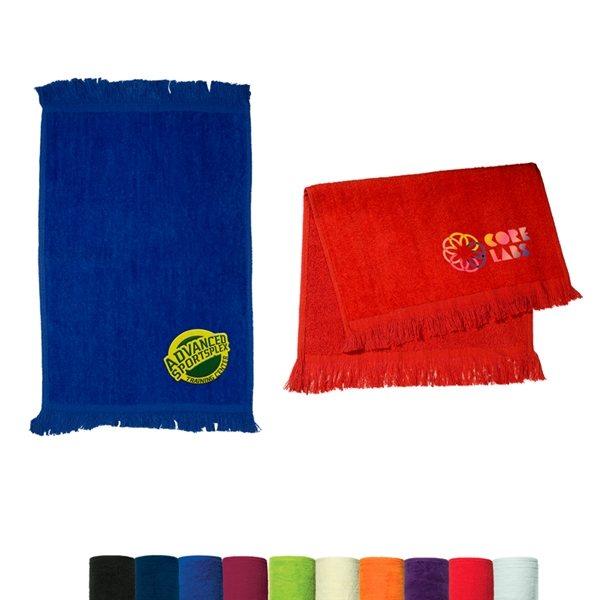 Promotional Velour Sport Towel Dark Colors
