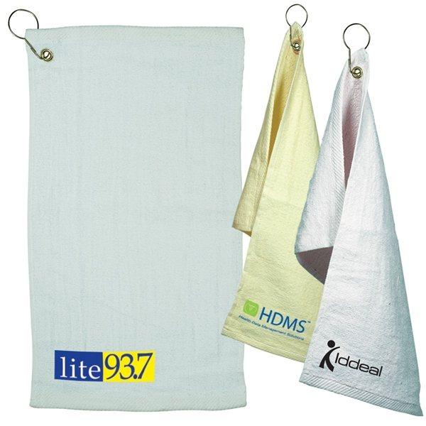 Promotional Fingertip Towel With Grommet Light Colors