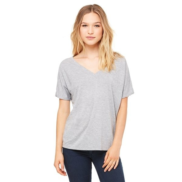 Promotional Bella Flowy Simple V - Neck Tee