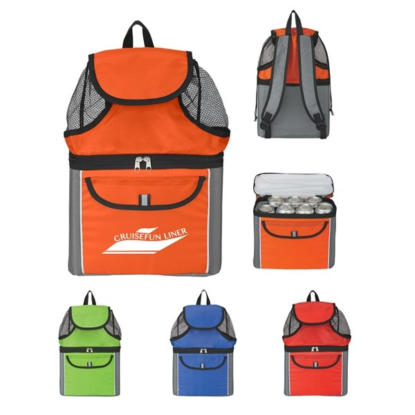 Promotional All - In - One Insulated Beach Backpack